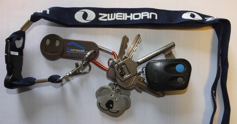 Schlüssel mit Zweihorn Band und Fernbedienungen