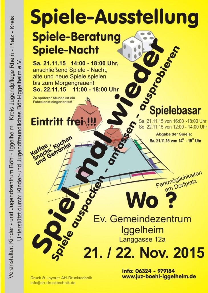 Plakat Spieleausstellung 2015