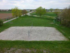 Volley und Fußballplatz
