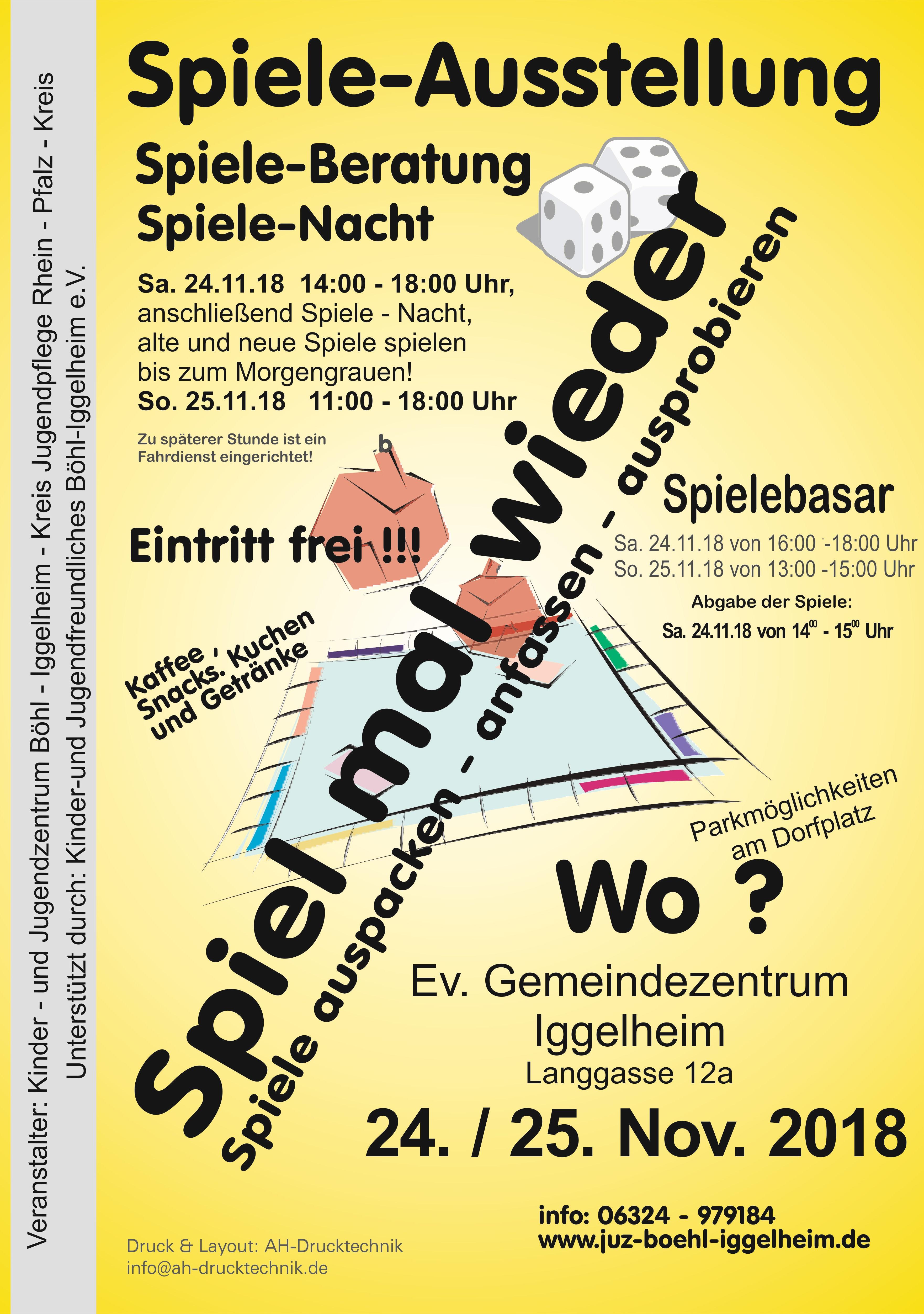 Spiele-Ausstellung, Spiele-Nacht, Spiele-Basar – Kinder- und ...